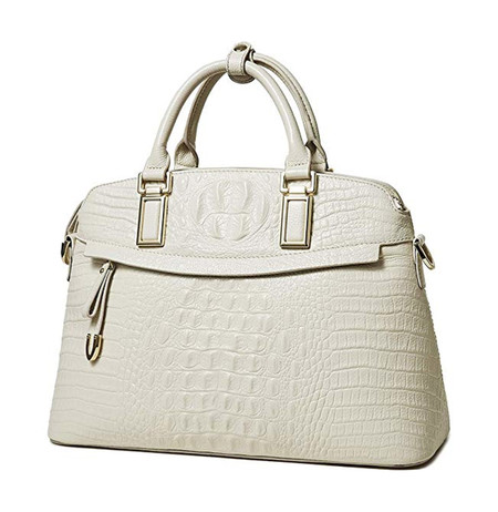 Blanco Bolso Cocodrilo Amazon