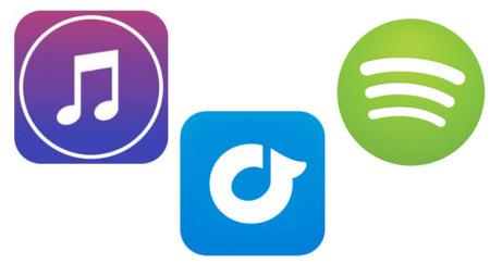 Spotify, Rdio y iTunes: comparativa