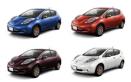 El Nissan Leaf tendrá cuatro nuevos colores para celebrar el 80 cumpleaños de la marca