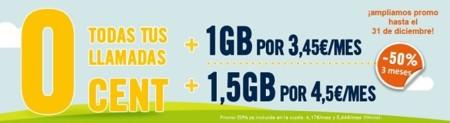 Happy Móvil extiende el 50% de descuento en tres facturas a su tarifa de 1.5 GB
