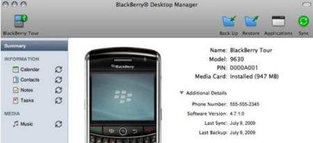 RIM prepara su software nativo para BlackBerry para Mac OS X