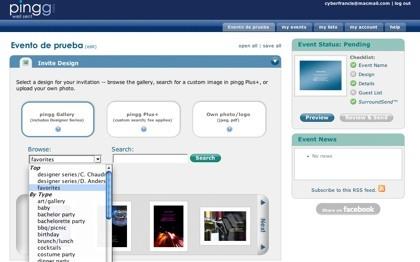 Pingg, sistemas de gestión y personalización de invitaciones a eventos, ya en beta pública