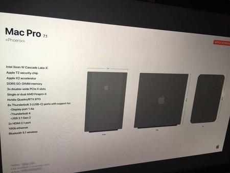 Mac Pro especificaciones 2019