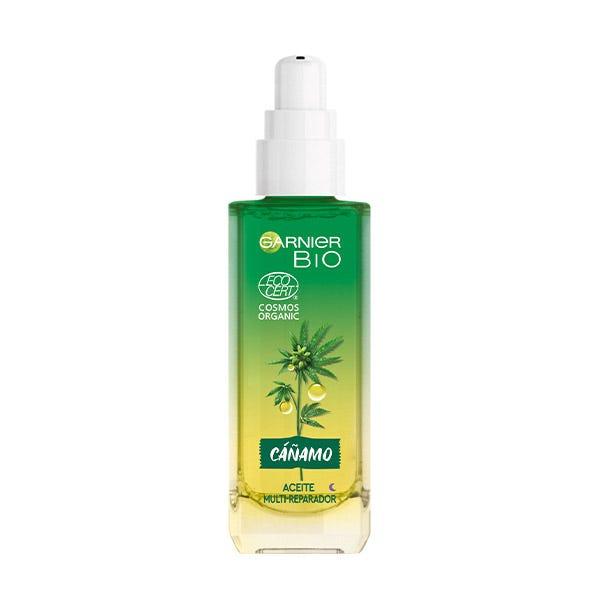 GARNIER Bio Aceite De Rostro Multi-Reparador | 30ML Con aceite de cannabis sativa ecológico + vitamina E