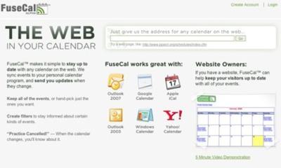 FuseCal, creando canales de calendarios personalizados