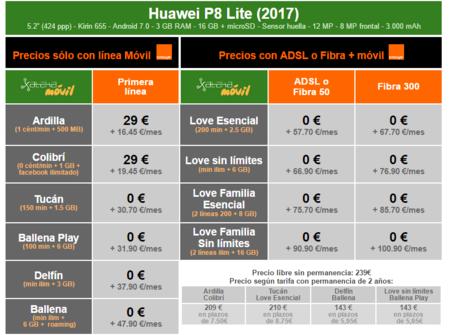 Precios Huawei P9 Lite 2017 Con Tarifas Orange