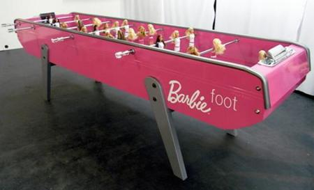 Futbolín de Barbie