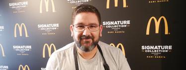 """Dani García presenta su nueva hamburguesa de McDonald's, y habla claro: """"Hay que monetizar todo lo que has hecho durante 25 años"""""""