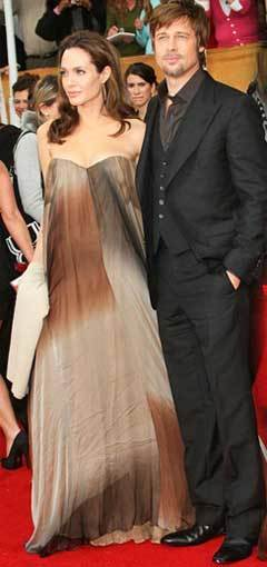 Angelina Jolie y Brad Pitt en los Screen Actors Guild Awards 2008