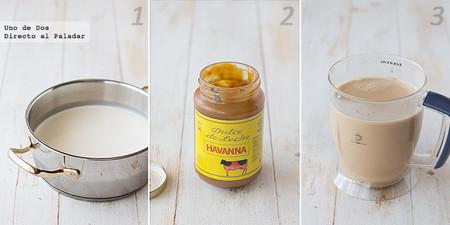 Receta  de helado de dulce de leche paso a paso