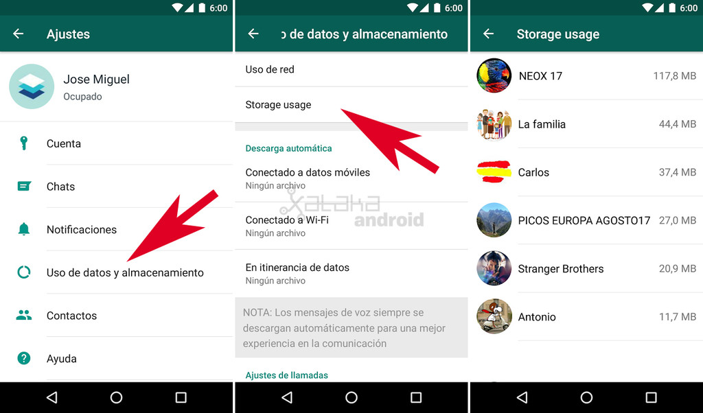 Whatsapp Liberar Espacio