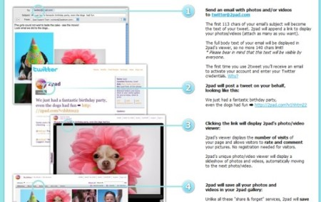 2tweet, twitea galerías de fotos y vídeos vía correo electrónico