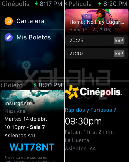 Cinepolis Apple Watch