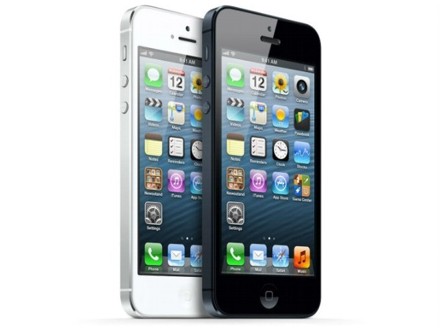 iPhone 5 blanco y negro
