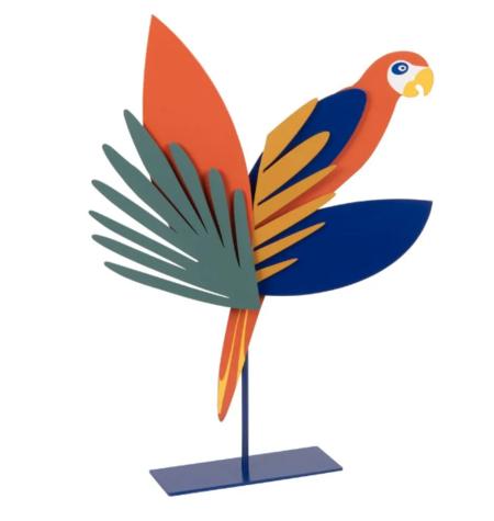 Figura De Loro De Hierro Reciclado Multicolor Alt 34 Peroko