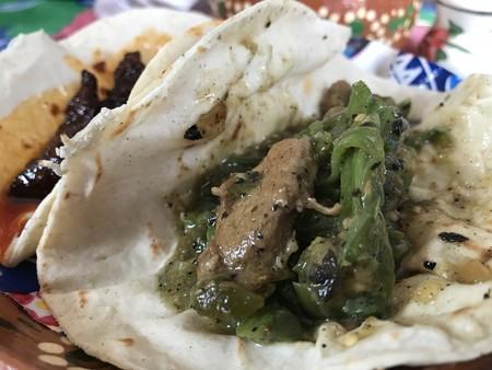 Carne de cerdo en salsa verde con nopales