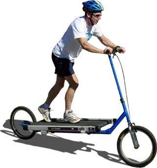 Bicicleta y cinta de correr todo en uno