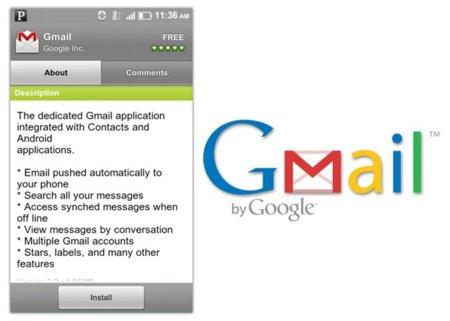 Gmail se actualiza para terminales Froyo