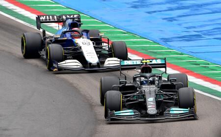 Bottas Russell Imola F1 2021