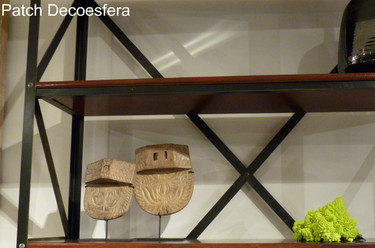 Hemos visto... estanterías decoradas con romanescu en un salón