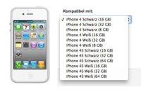 iPhone 4S con 16GB, 32GB y 64GB, aparecen en Vodafone Alemania