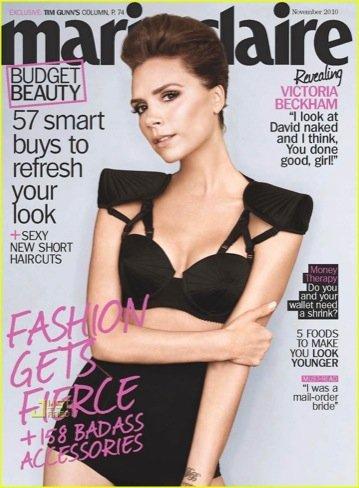 Victoria Beckham estrena en la portada Marie Claire lo nuevo de Jean Paul Gaultier para La Perla