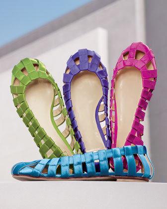 Coloridas bailarinas de Dolce & Gabbana
