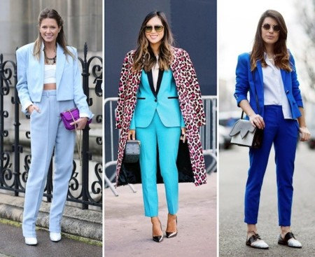 duelo estilos traje pantalon azul