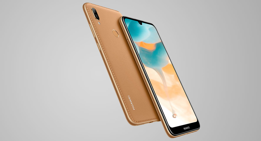 Huawei Y6 2019: lots of screen, little RAM, fingerprint reader, and rear artificial leather