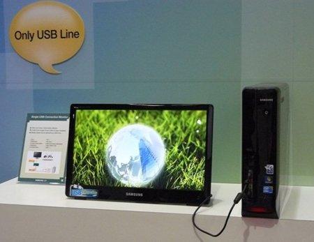 Samsung tendrá listo su primer monitor alimentado por USB para 2011
