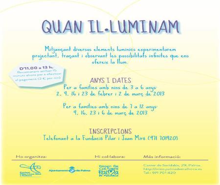 'Cuando iluminamos', es el nuevo proyecto de talleres realizado por la Fundación Pilar y Joan Miró