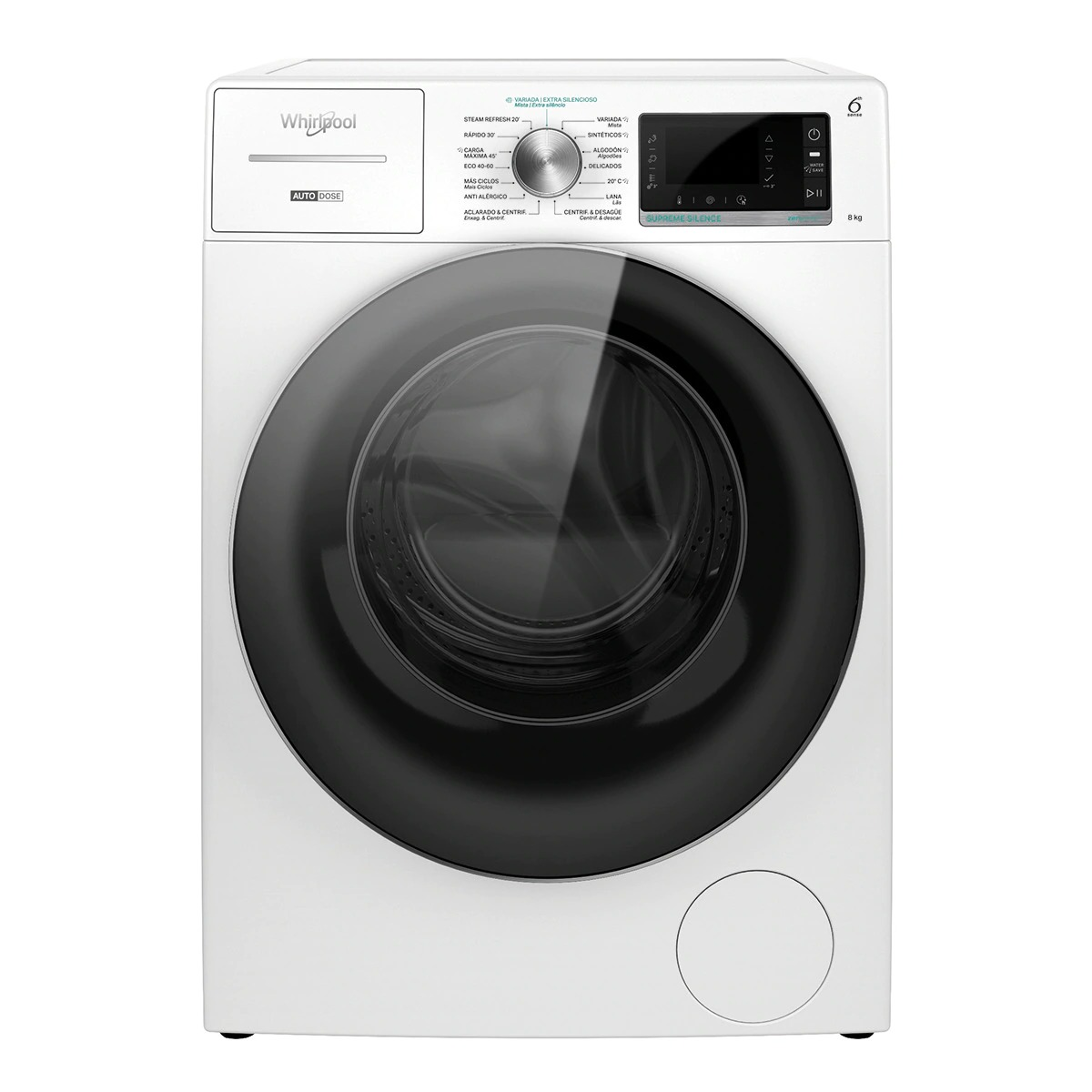 Whirlpool W8 W846WR SPT 8kg 1,300rpm Front Loading Washer