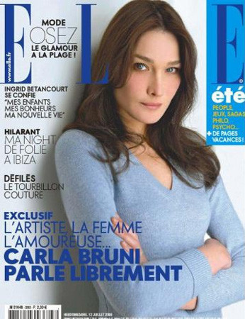 Carla Bruni portada de la revista Elle