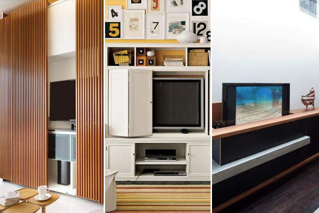 Ideas para esconder la televisi n - Mueble cd ikea ...