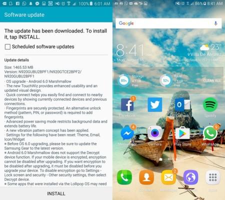 Galaxy Note 5 Actualizacion Marshmallow Mexico