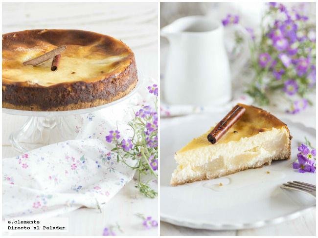 Tarta de pera y queso ricotta