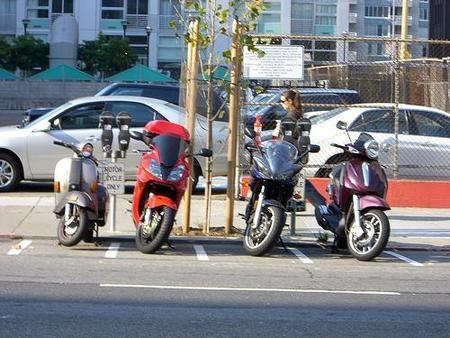 Zona azul para motos en Barcelona