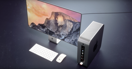Este concepto de Mac Pro modular nos recuerda al Mac Mini, pero es mucho más profesional