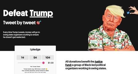 """""""Acabar con Trump"""" vía Twitter: esta plataforma recauda dinero cada vez que el presidente de EEUU twitee para acabar con su reelección"""