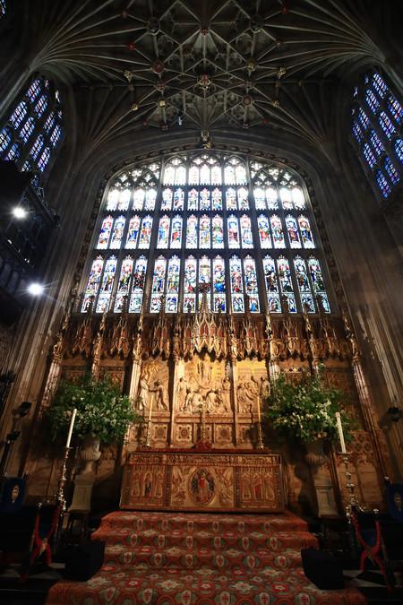 Boda de Meghan Markle y el Príncipe Harry. Decoración de la capilla