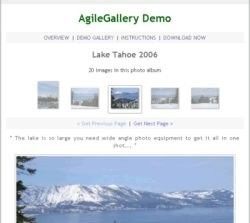 Agile Gallery, galería fotográfica web para Picasa