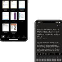 Word, Excel y otras apps de Microsoft se actualizan con modo oscuro y más cambios en iOS