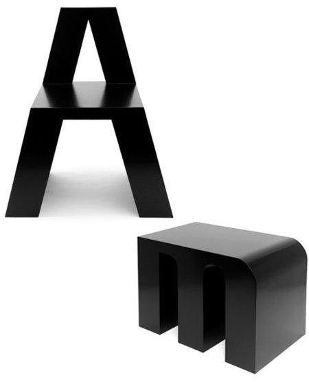 Sillas abecedario