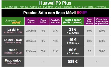 Precios Huawei P9 Plus Con Tarifas Yoigo