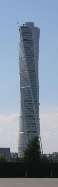 El Turning Torso de Calatrava en Malmö (Suecia)