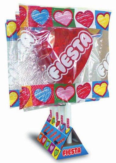 San Valentín: piruleta de corazón gigante