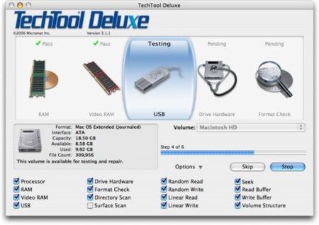 TechTool Deluxe: herramientas para comprobar el estado de tu equipo II