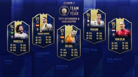 Fifa 19 Team Of The Year Defenders Goalkeeper