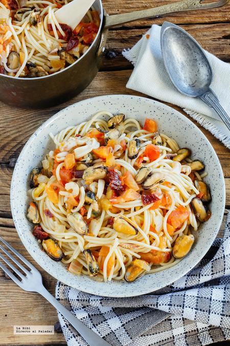 Espaguetis Mariscos