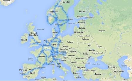 Rutas cubiertas por supercargadores Tesla en Europa